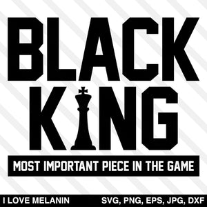 Black King Chess SVG