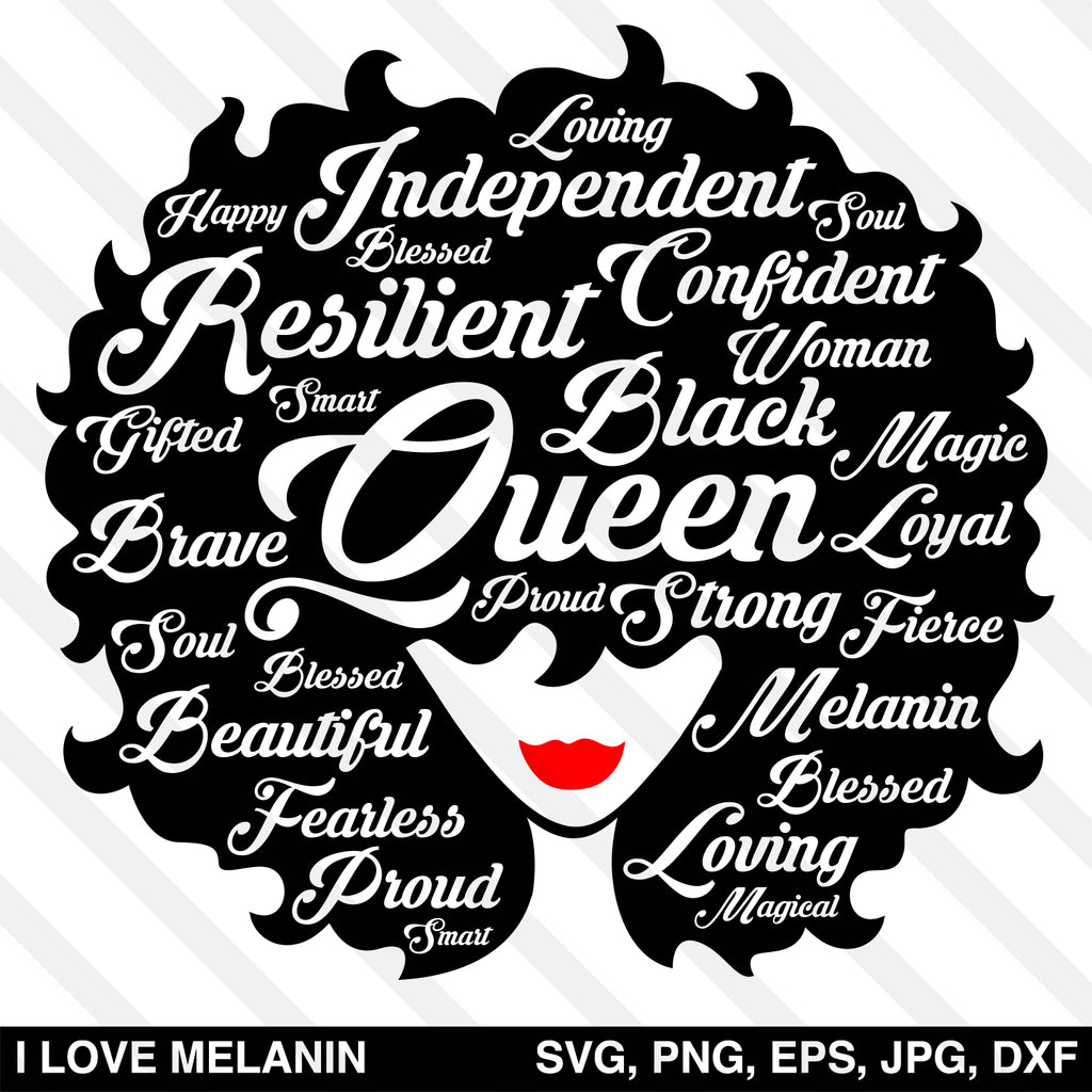 Black Queen Afro Woman SVG