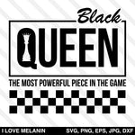 Black Queen Chess Checkered SVG