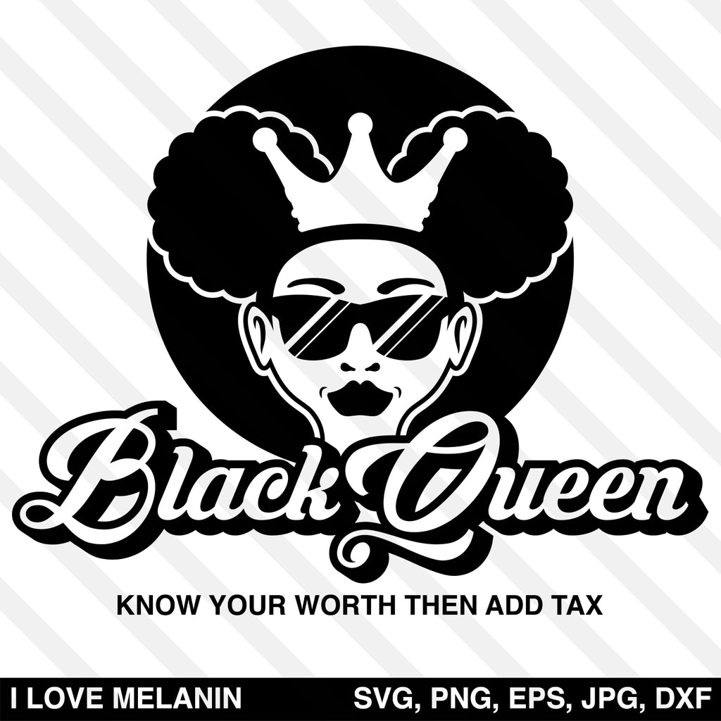 Black Queen Girl SVG