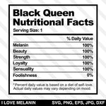 Black Queen Nutritional Facts SVG