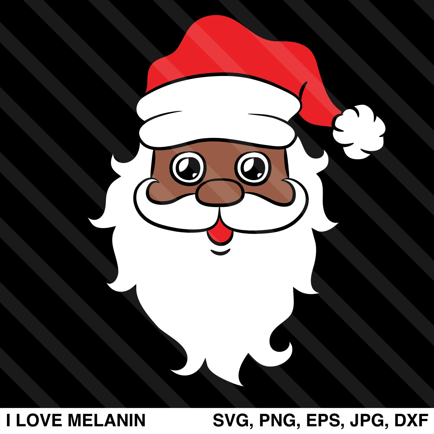 Black Santa Claus SVG