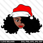 Black Santa Claus Woman SVG