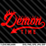 Demon Time Flames SVG