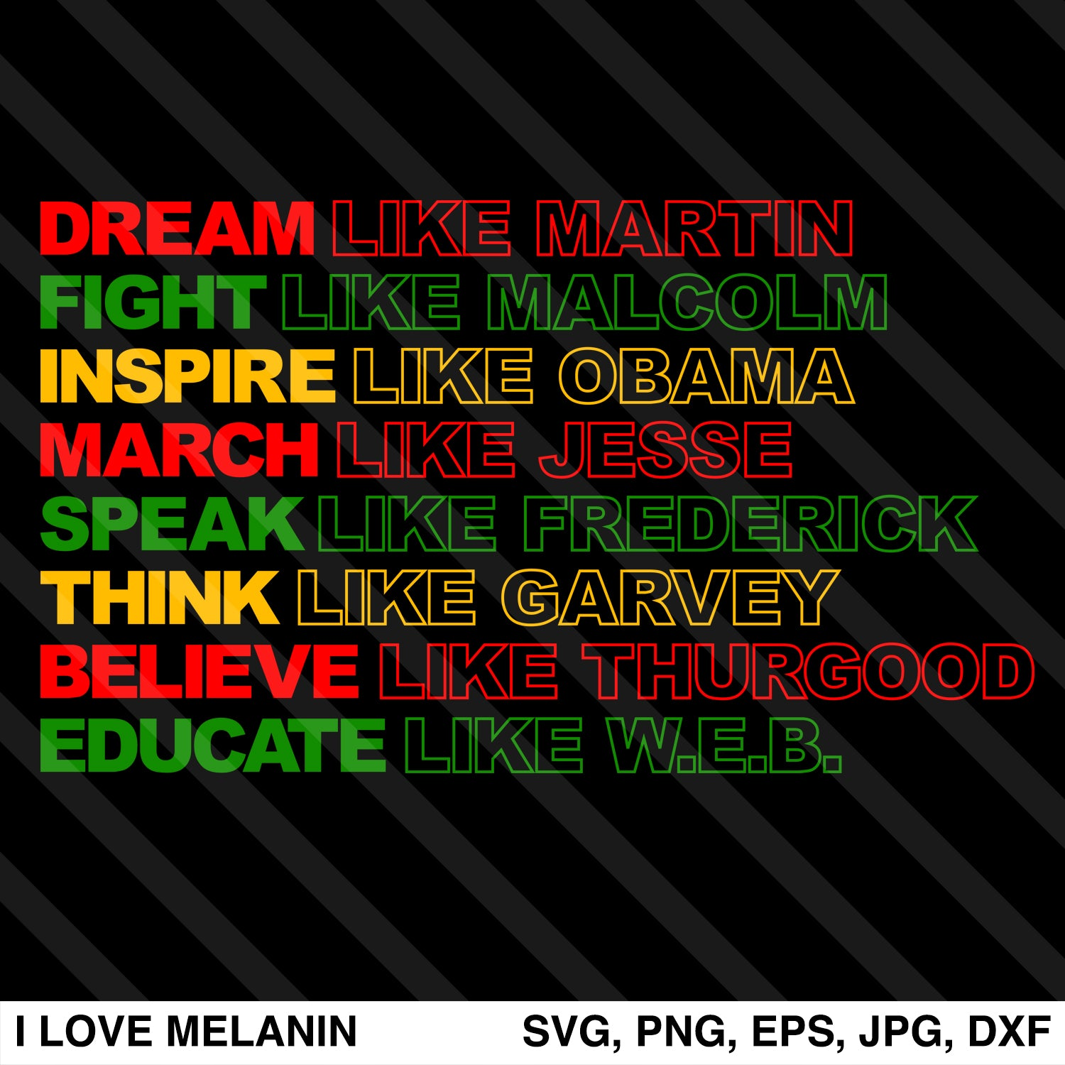 Dream Like Martin SVG