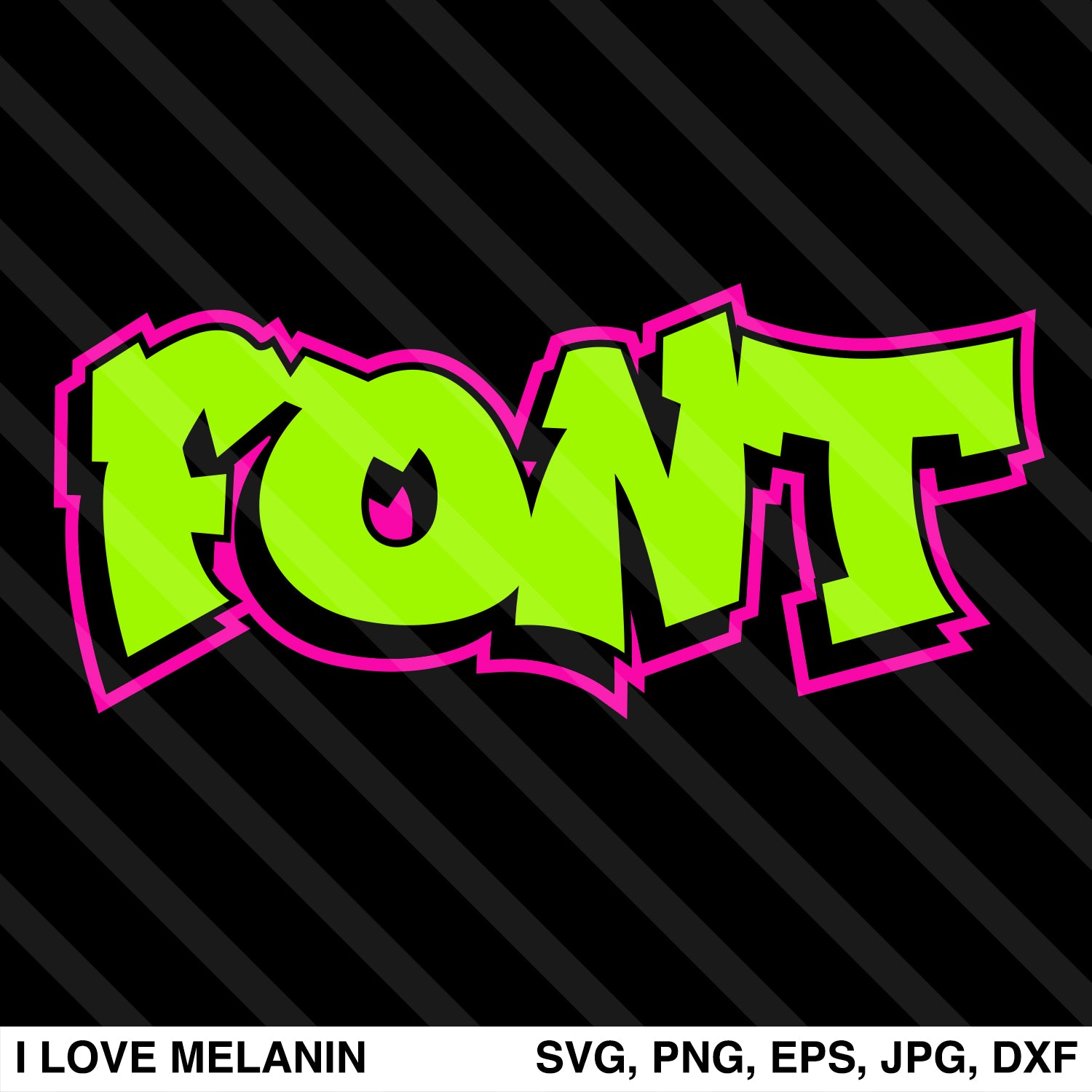 Fresh Graffiti Font SVG