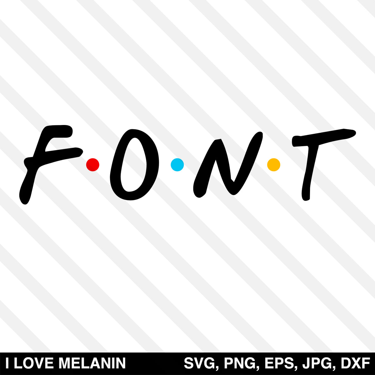 Friends Font SVG