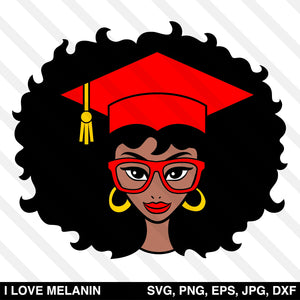 Graduation Black Woman SVG
