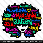 Graffiti Black Queen Afro Woman SVG