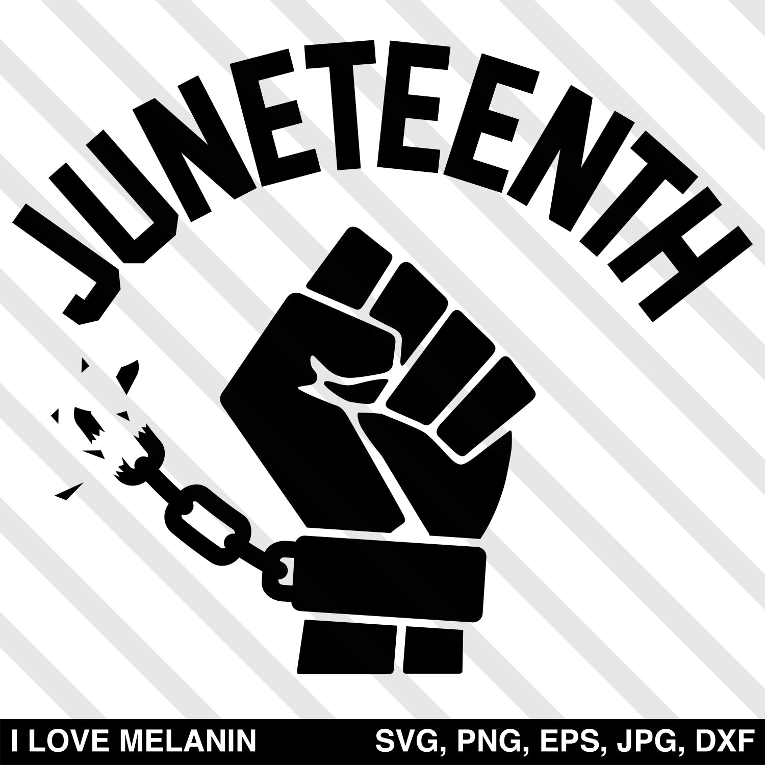 Juneteenth Freedom Fist SVG