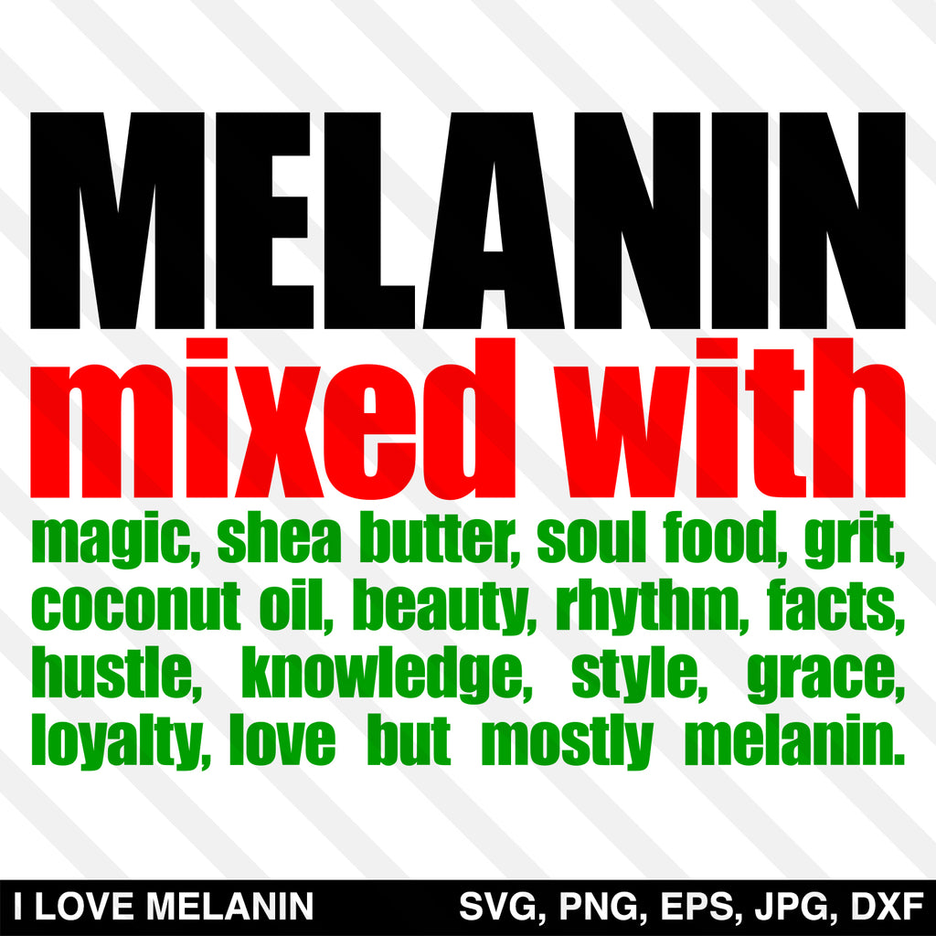 Melanin Mixed With Melanin SVG