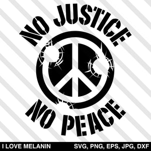 No Justice No Peace SVG
