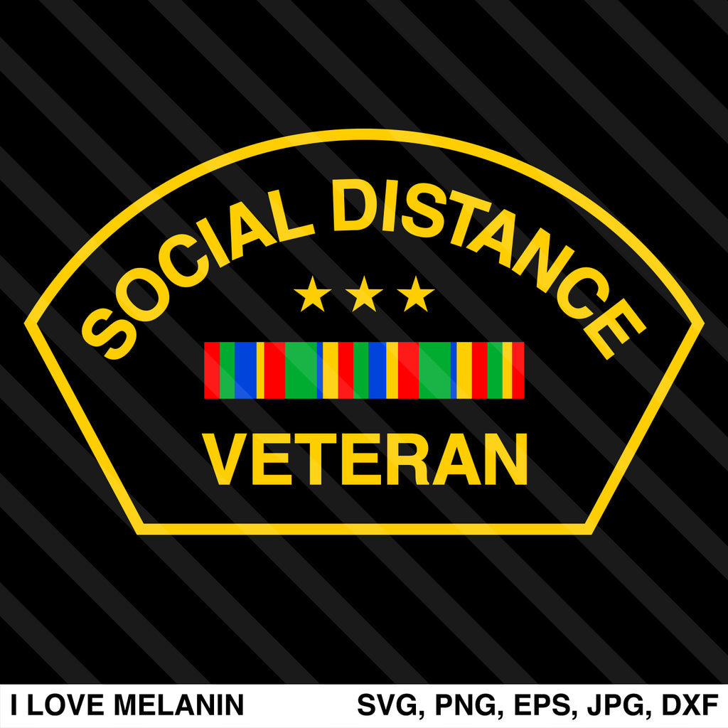 Social Distance Veteran SVG