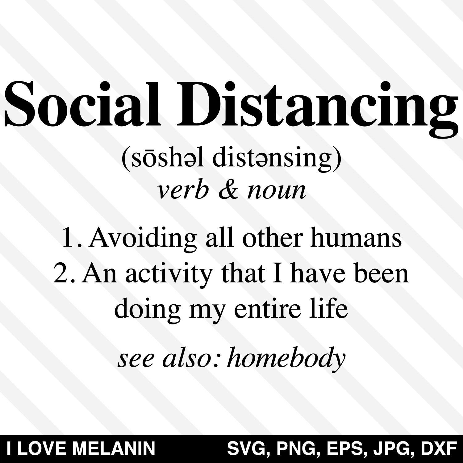 Social Distancing Definition SVG