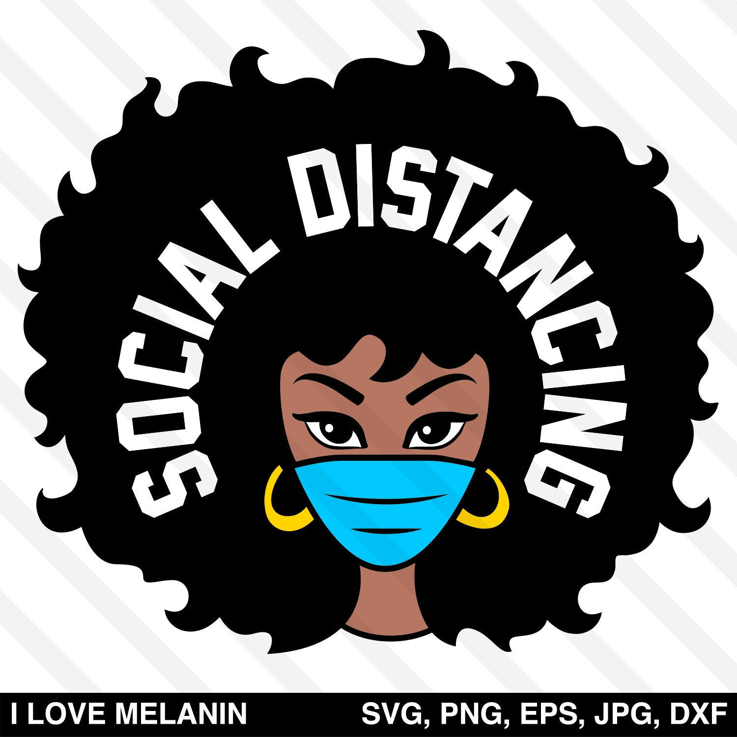 Social Distancing Nurse SVG