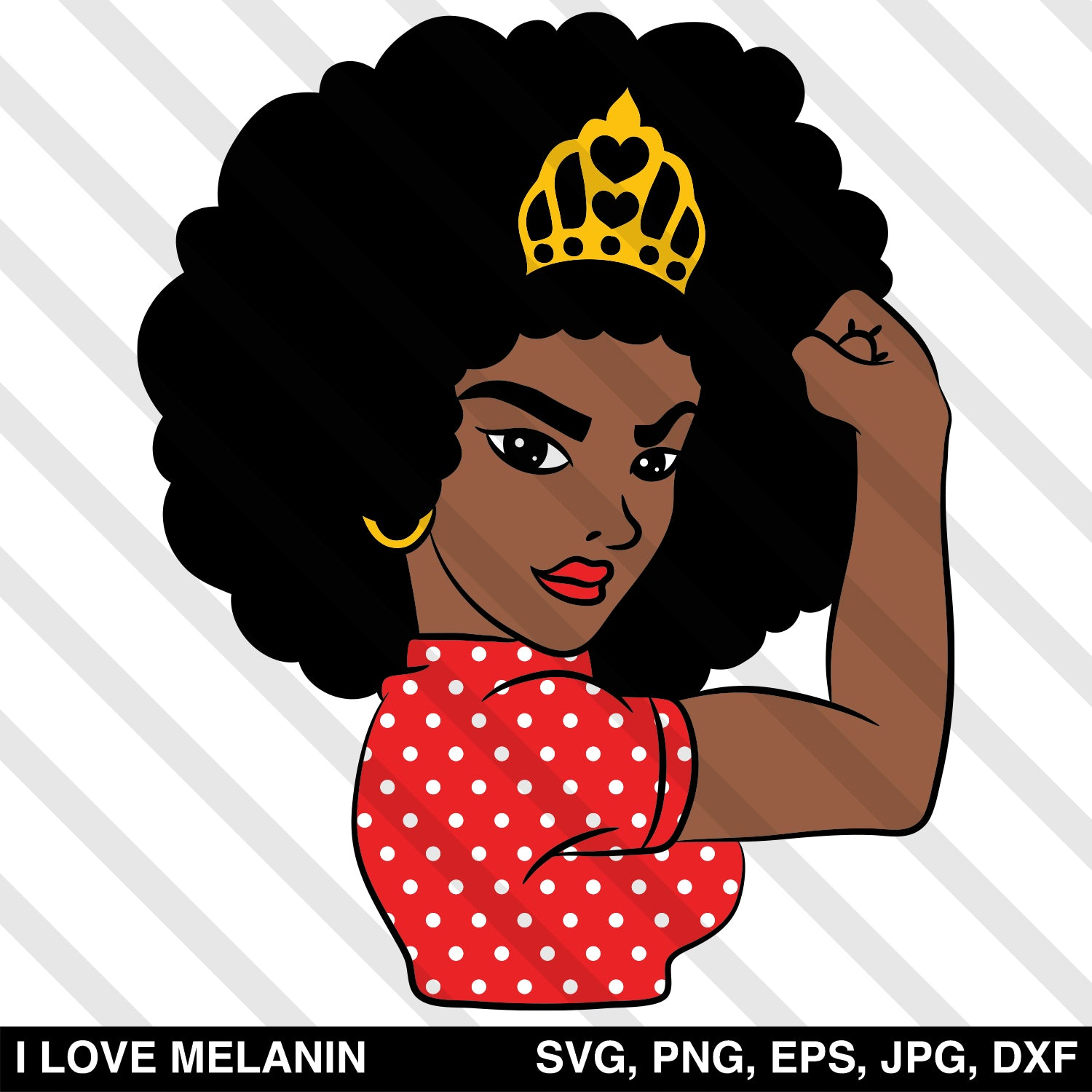 Strong Black Woman Queen SVG