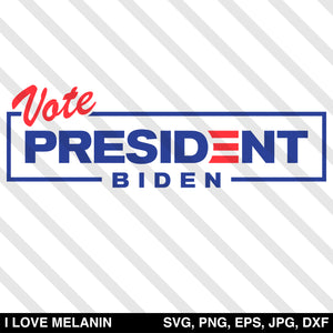 Vote Biden For President SVG