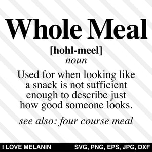 Whole Meal Definition SVG