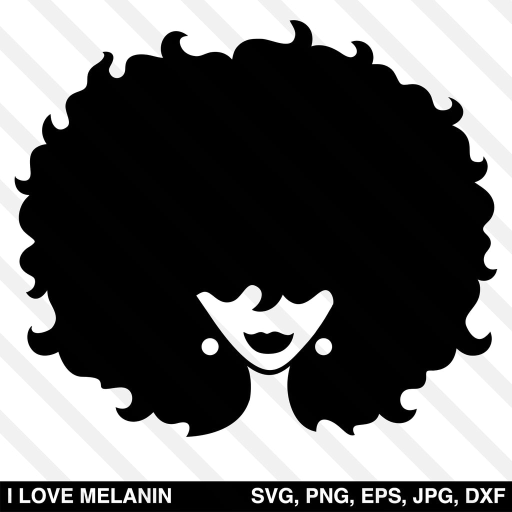 Afro Woman Silhouette SVG