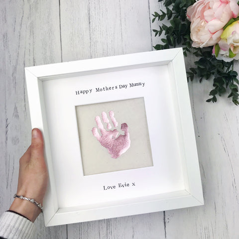 first mothers day baby handprint frame