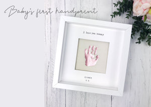 baby handprint frame rose gold