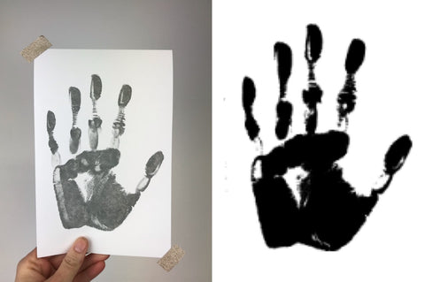 how to get the perfect baby handprint