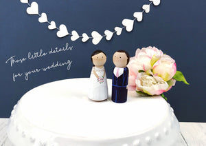 personalised peg doll wedding cake toppers