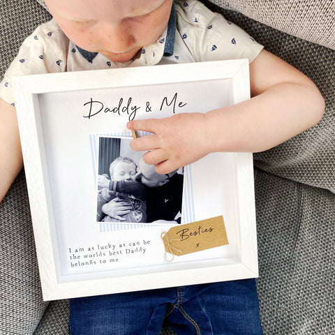 Son and Daddy Photo Frame