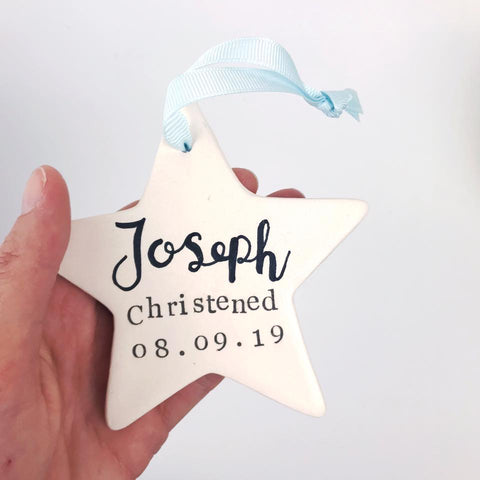 Personalised Ceramic Occassion Star