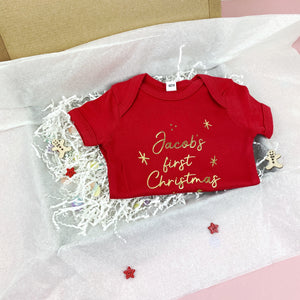First Christmas Baby Bodysuit