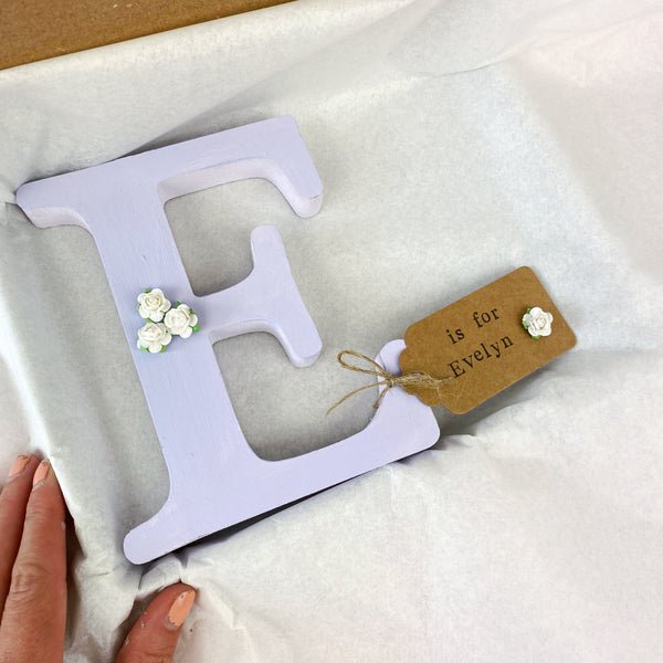 personalised wooden letter