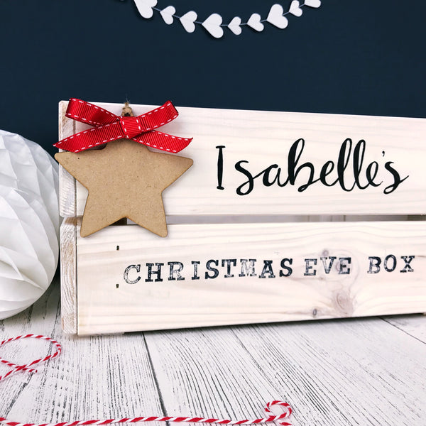 Hand Lettered Christmas Eve Crate