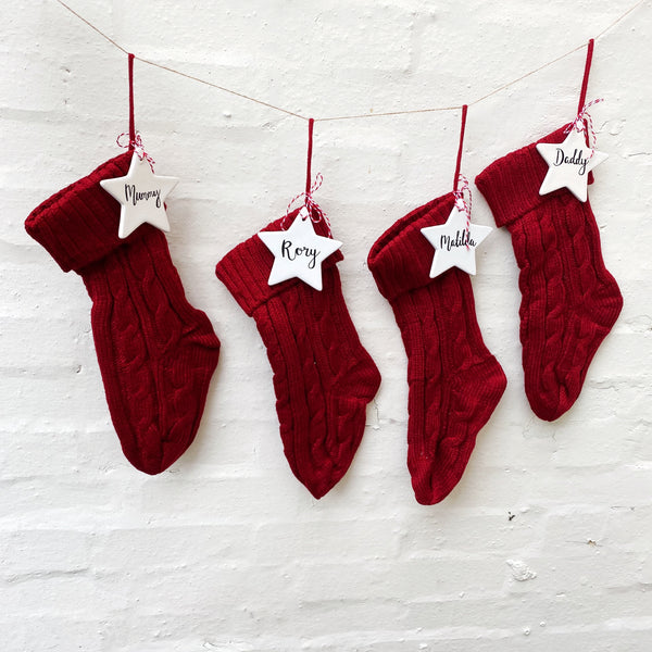 family Christmas stocking set