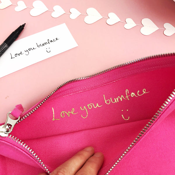 Secret Message Make Up Bag