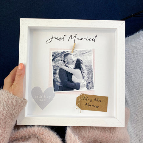 Just Married Wedding Frame