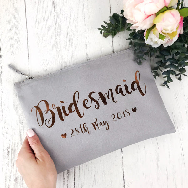 Bridesmaid Personalised Make Up Bag