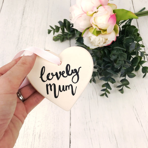 Lovely Mum Ceramic Heart