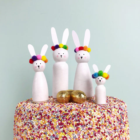Easter Bunny Cake Toppers