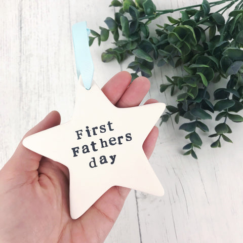 First Fathers Day Ceramic Star