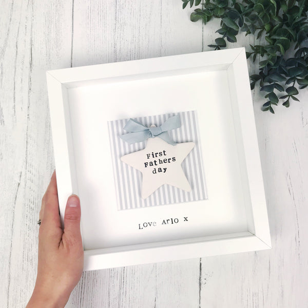 first fathers day ceramic star frame