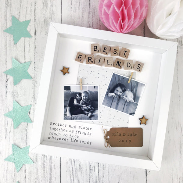 brother and sister photo frame