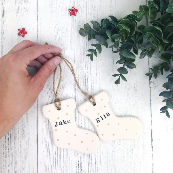 ceramic stocking decorations