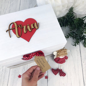First Christmas Script Keepsake Box