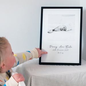 Personalised Baby Photo Print