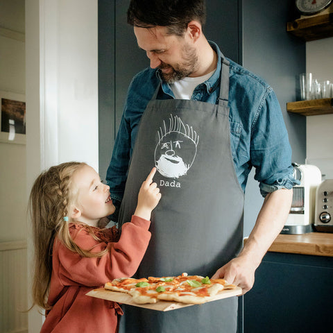 Children's Drawing Dad BBQ Apron