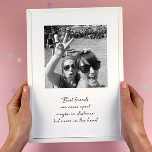 Personalised Best Friends Photo Print
