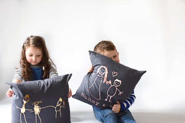 Mummy and Me Childrens Drawing Cushion
