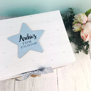 Baby Boys First Christmas Memory Box