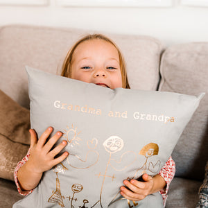 Grandparents Childrens Drawing Cushion