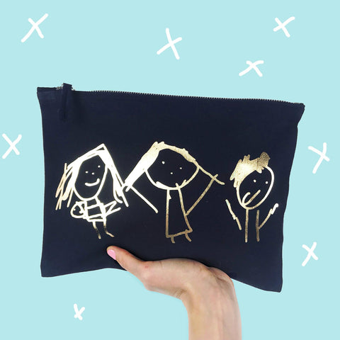 Drawing Message Make Up Bag